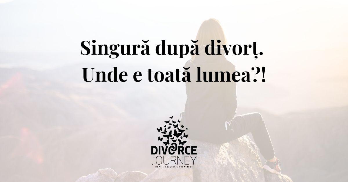 singură după divorț